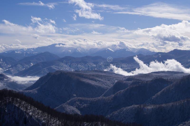 Красивые горы северные - западный Кавказ Adygea стоковое изображение rf