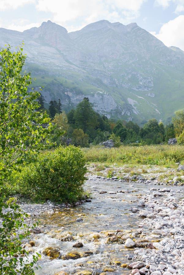 Красивые горы северные - западный Кавказ Adygea стоковое фото rf
