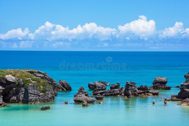 Красивые голубые Бермудские Острова стоковое фото