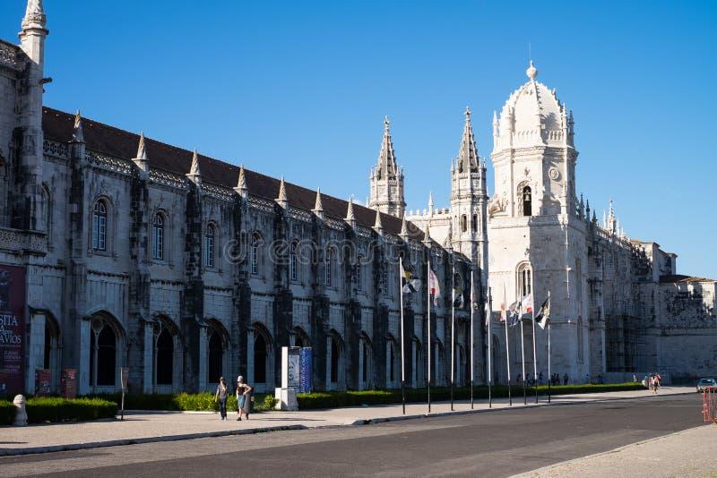 Красивые детали архитектуры в монастыре Jeronimos, Лиссабоне стоковое фото rf