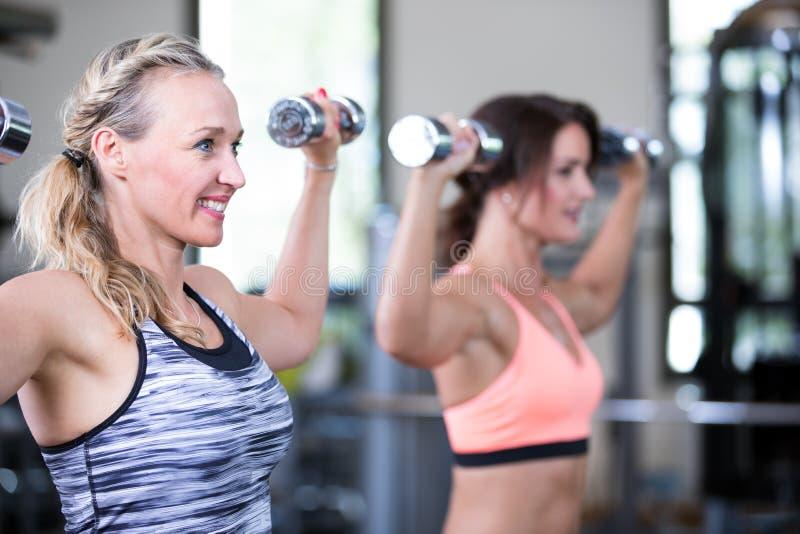 Красивые женщины в спортзале стоковое фото rf