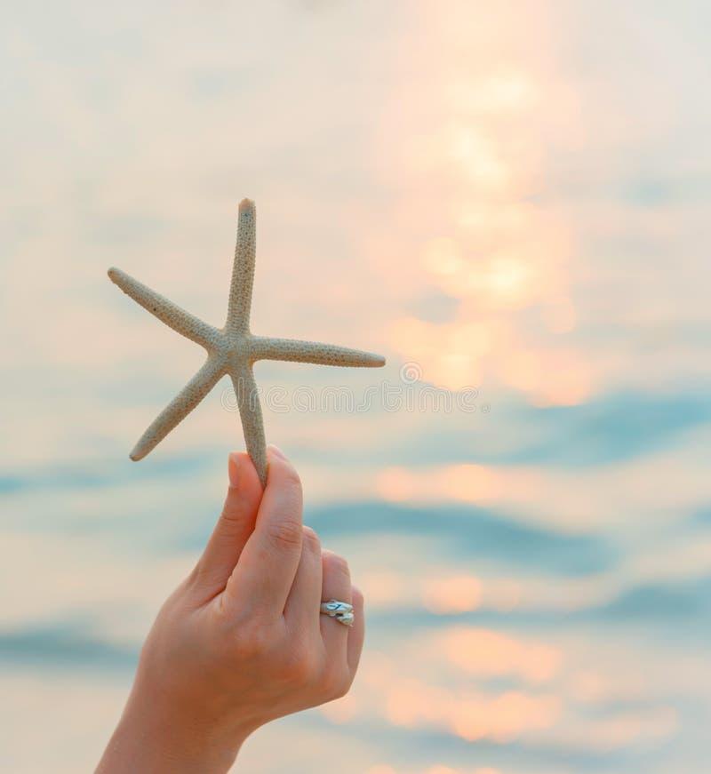 Красивые женщины путешествуют самостоятельно на пляже на лете стоковые изображения