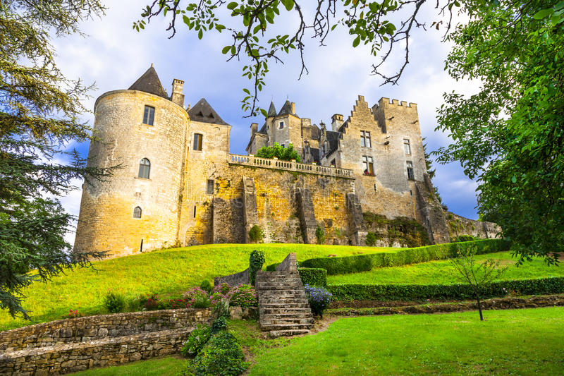 Красивые замки Франции стоковое изображение
