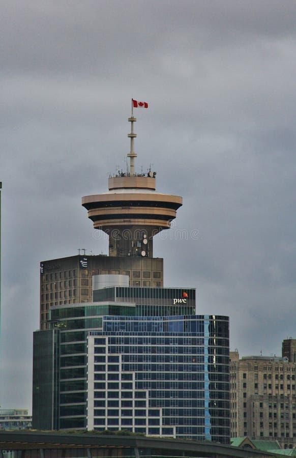 Красивые здания, горизонт, гавань угля в городском Ванкувере, Британской Колумбии стоковые изображения