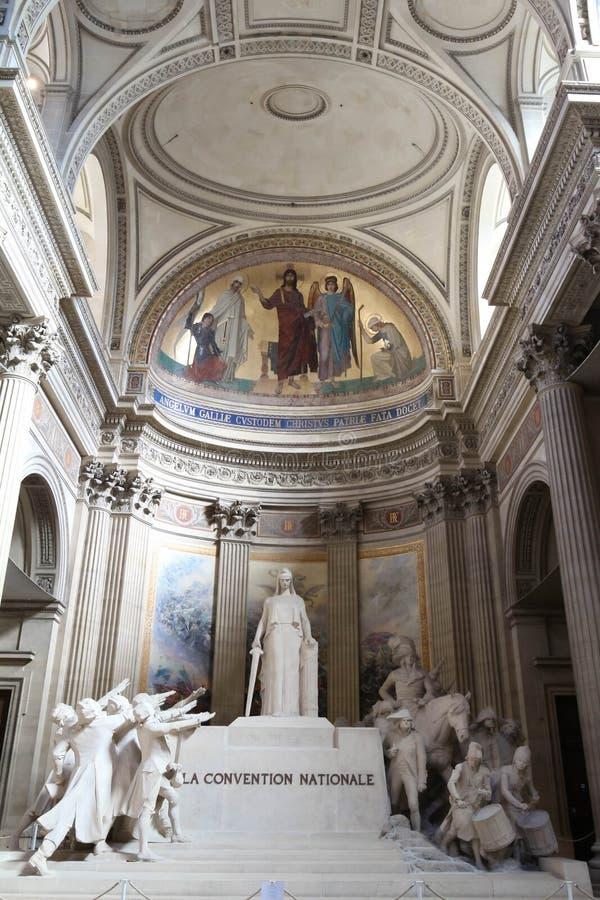 Красивые интерьеры пантеона, места всемирного наследия ЮНЕСКО Франция paris стоковые изображения rf