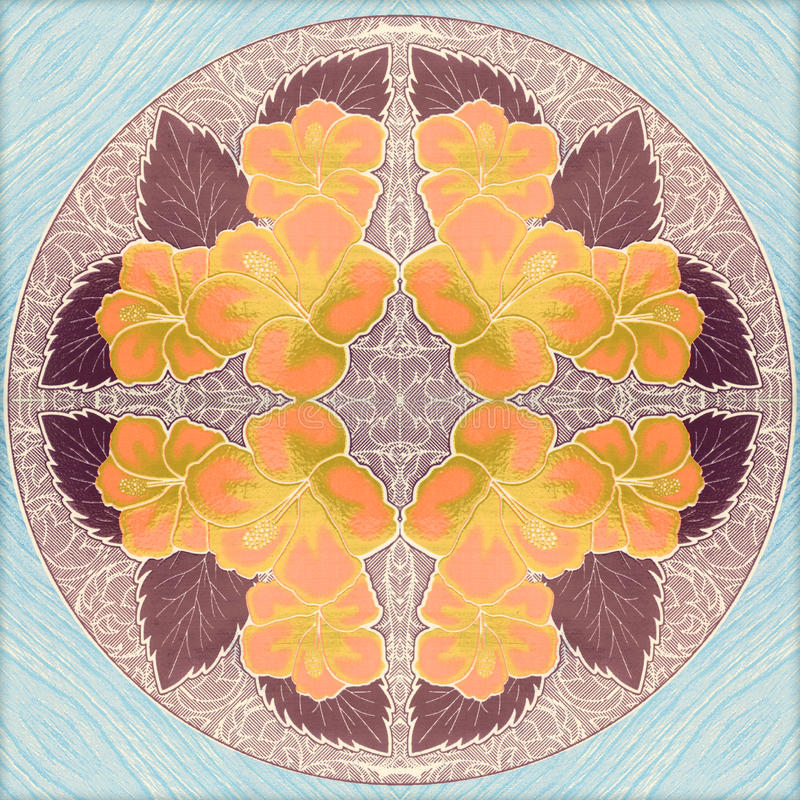 Красивые картины стены керамической плитки цветка стоковое изображение