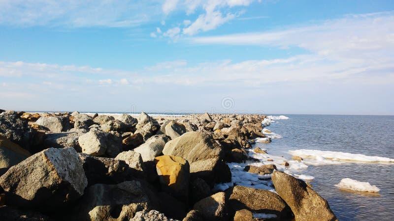 Красивые небо и море стоковые изображения