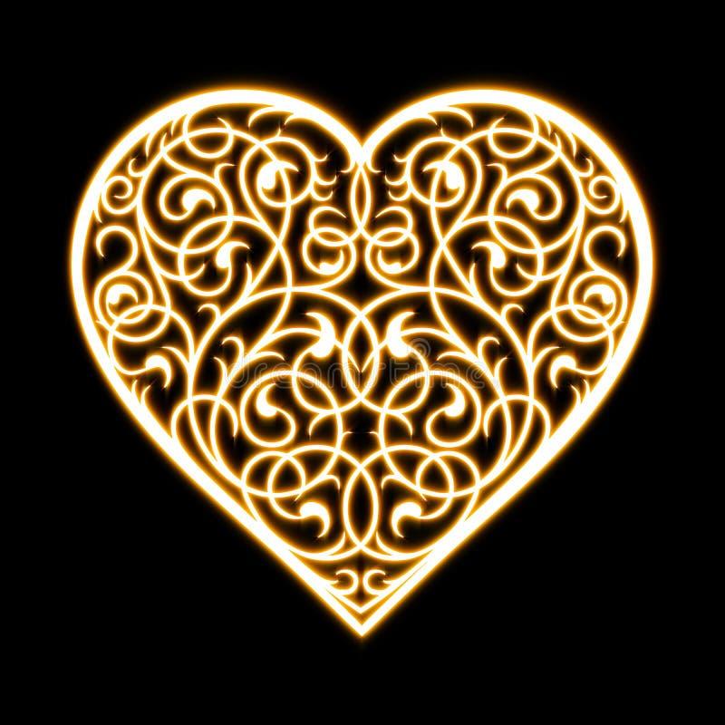 Красивые орнаменты от сердца цветков бесплатная иллюстрация
