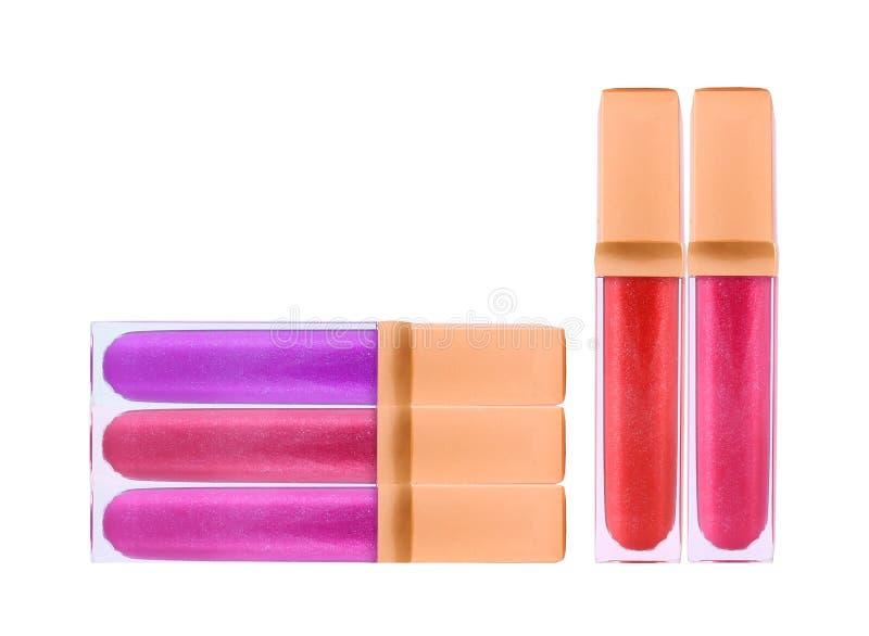 Красивые лоски губы, изолированные на белизне стоковое изображение