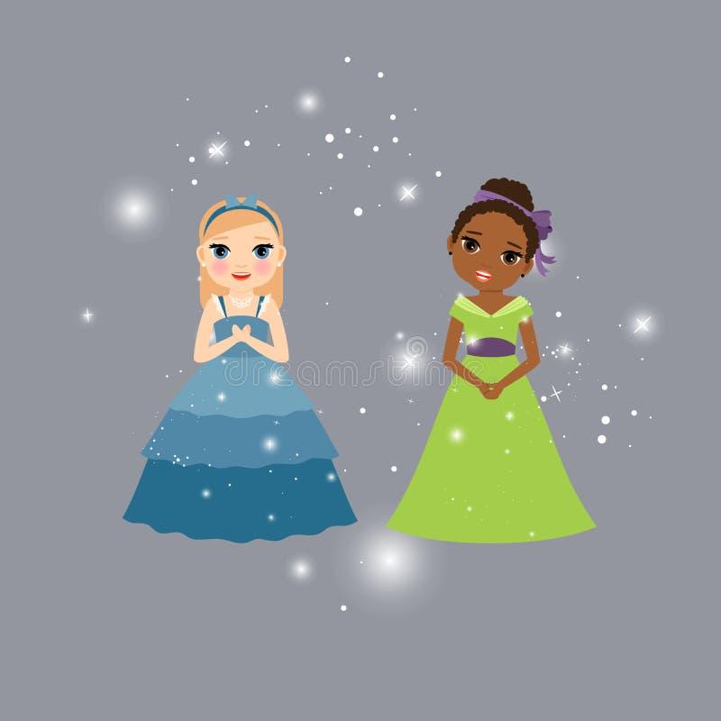 Красивые персонажи из мультфильма принцессы бесплатная иллюстрация