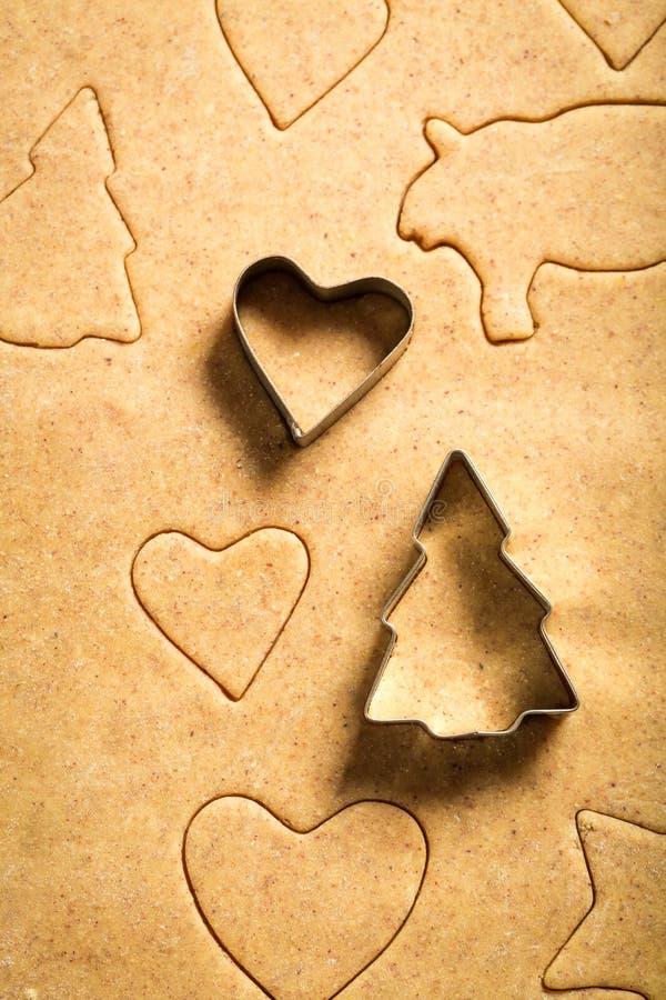 Красивые печенья пряника рождества стоковое фото rf