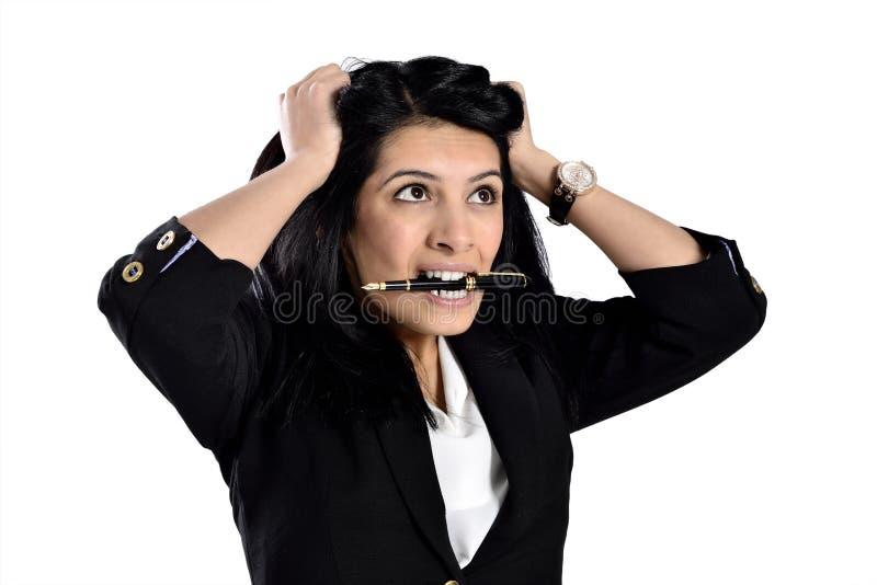 Красивые привлекательные бизнес-леди стоковое изображение rf