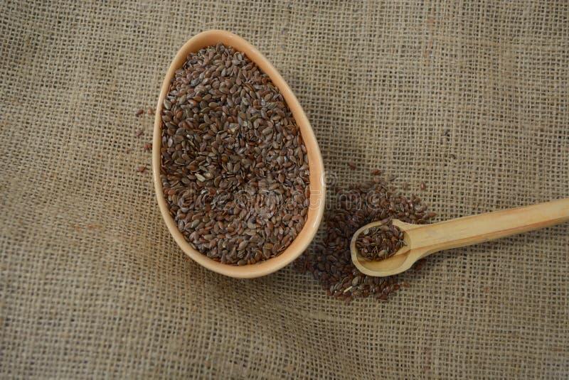 Красивые семена льна стоковая фотография rf
