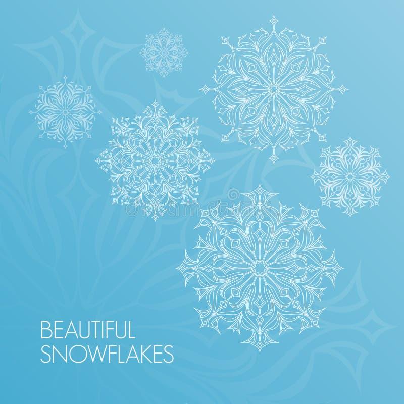 Красивые снежинки шнурка стоковое изображение rf