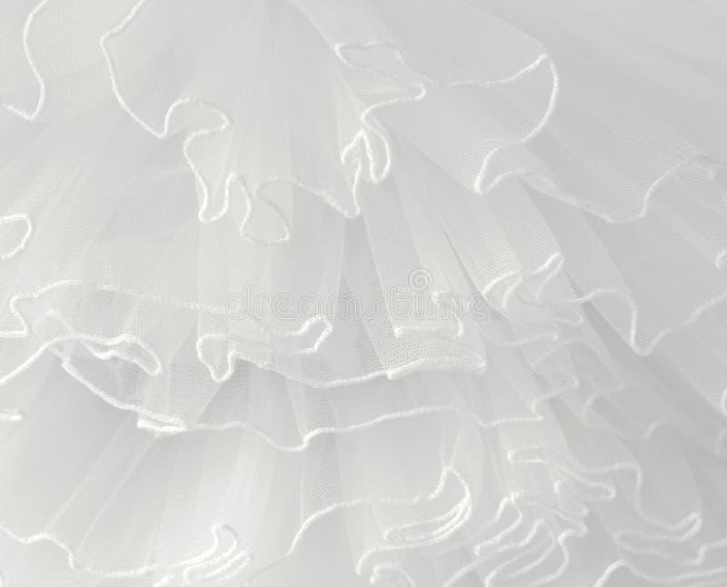 Красивые слои чувствительной белой предпосылки ткани стоковое фото rf