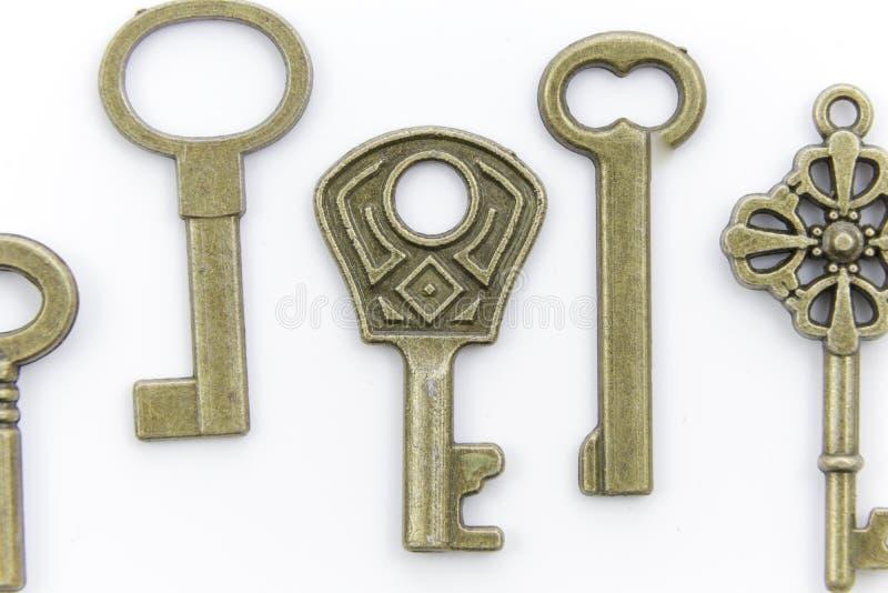 Красивые уникально античные ключи металла стоковое фото rf