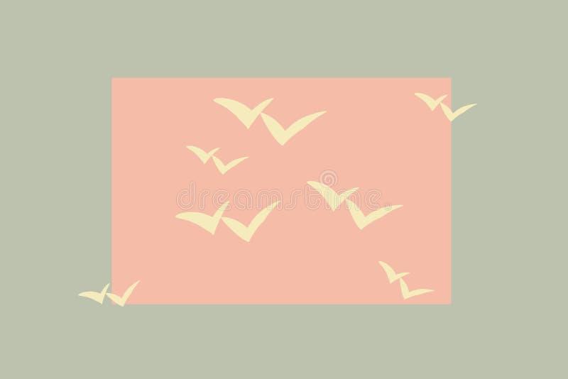 Красивые чайки летания бесплатная иллюстрация