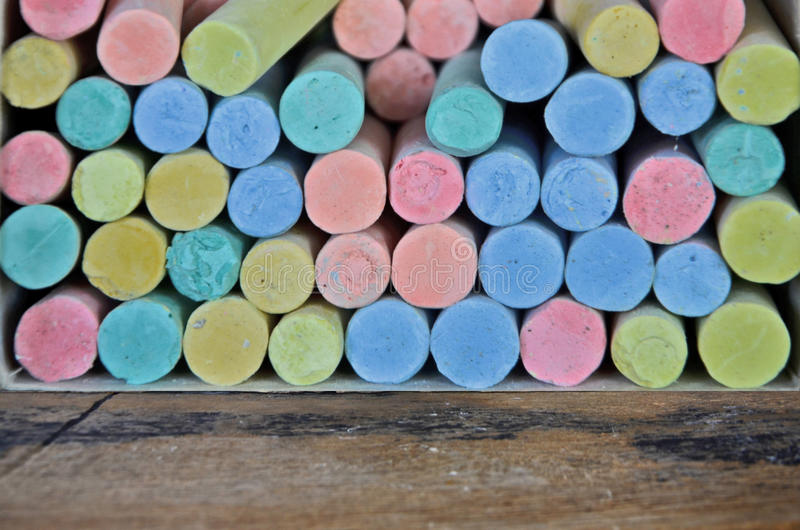 Красивые части цвета мела стоковое изображение rf