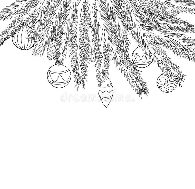 Картинки на окно сосновые веточки с шариками