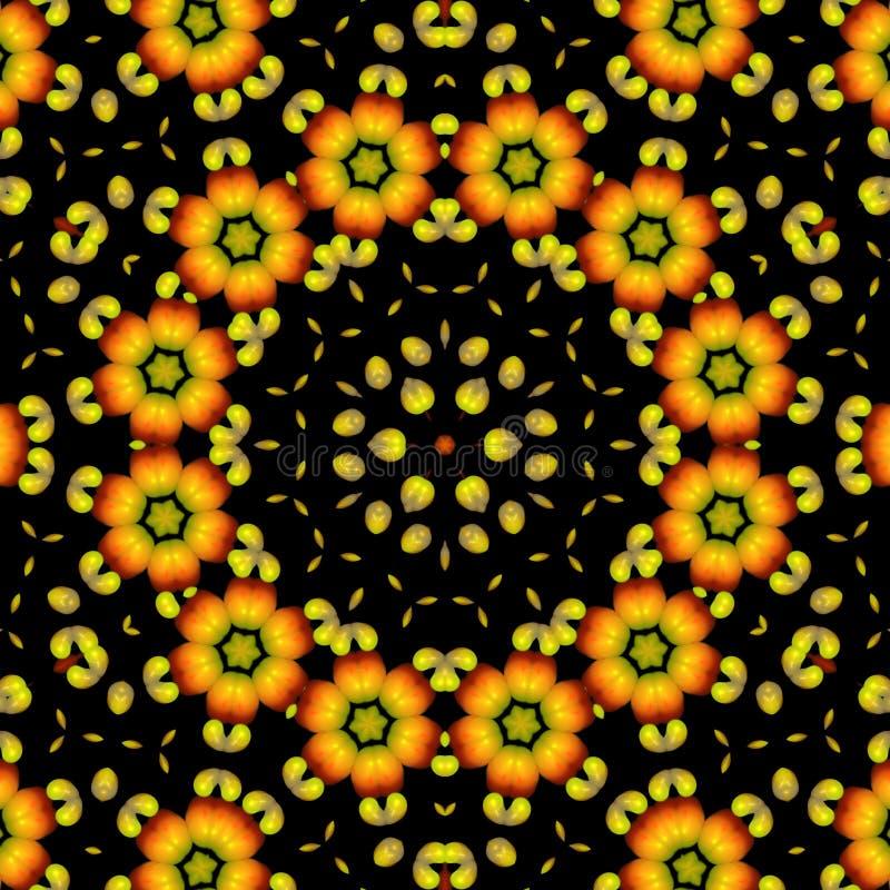 Красивый абстрактный оранжевый орнамент на черноте изолировал предпосылку бесплатная иллюстрация