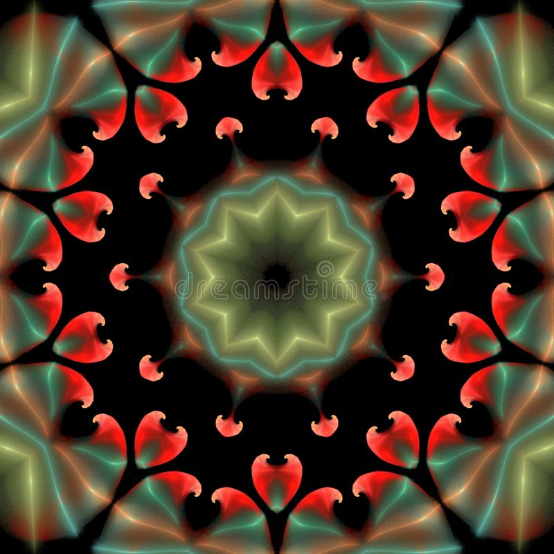 Красивый абстрактный орнамент на предпосылке изолированной чернотой иллюстрация штока
