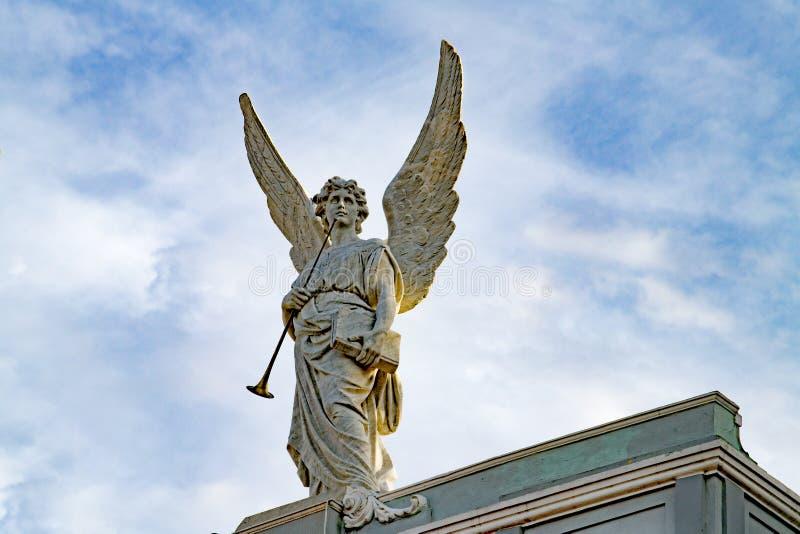 Красивый ангел с высокорослыми крылами стоковая фотография rf