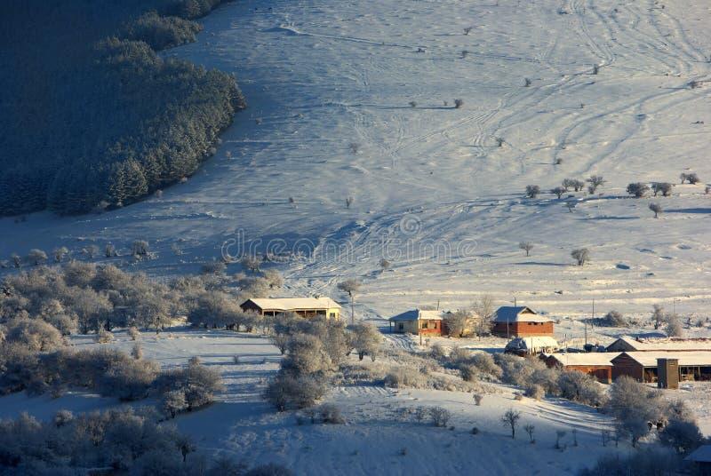 Красивый ландшафт зимы стоковые изображения rf