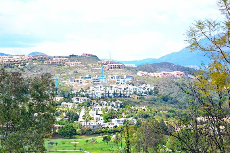 красивый ландшафт Estepona, Косты del Sol, Испании стоковая фотография rf