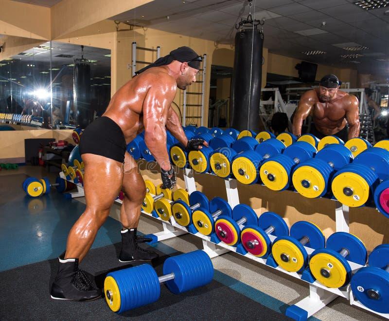 Красивый атлетический культурист человека стоковое фото rf