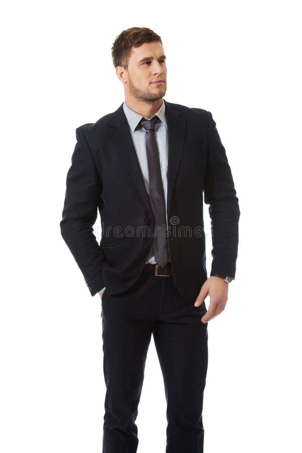 Красивый бизнесмен в деловом костюме стоковые изображения