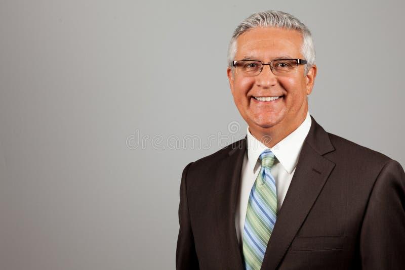 Красивый бизнесмен стоковое изображение rf