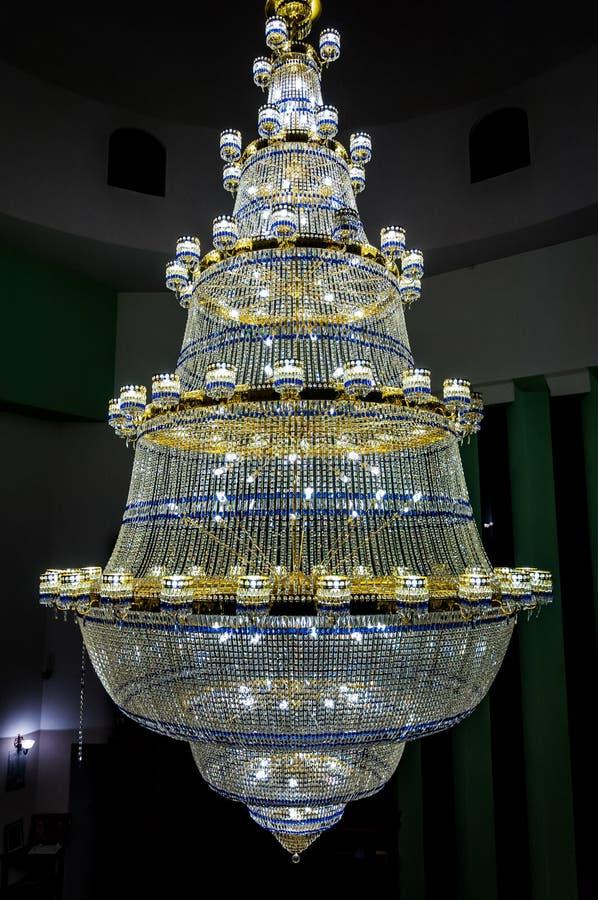 Красивый блеск в мечети стоковое фото rf