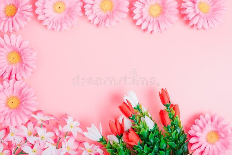 Красивый взгляд сверху цветков стоковое изображение
