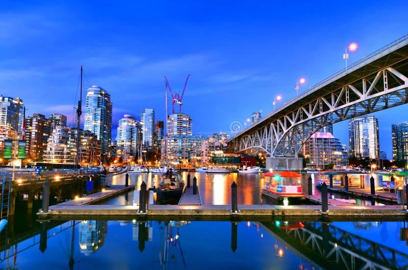 Красивый вид Ванкувера ДО РОЖДЕСТВА ХРИСТОВА, Канада стоковая фотография rf