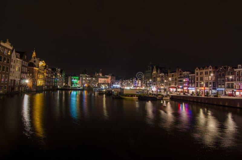 Красивый вид канала Амстердама стоковая фотография rf
