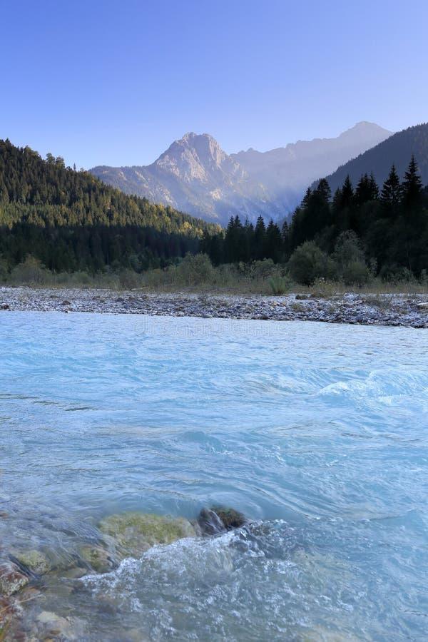 Красивый вид к реке стоковое фото