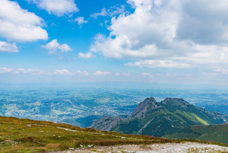 Красивый вид на горе Giewont стоковое изображение