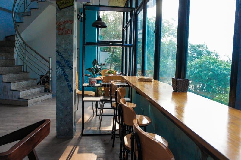 Красивый вид на кофейне стоковое изображение