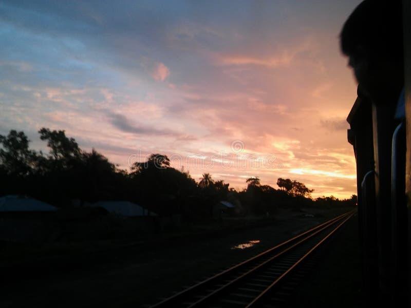 Красивый вид неба утра стоковое изображение rf