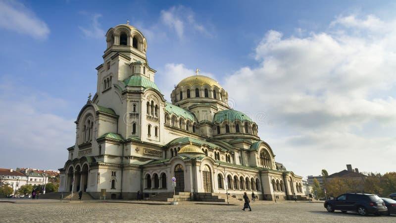 Красивый вид собора Александра Nevsky в Софии стоковые фотографии rf