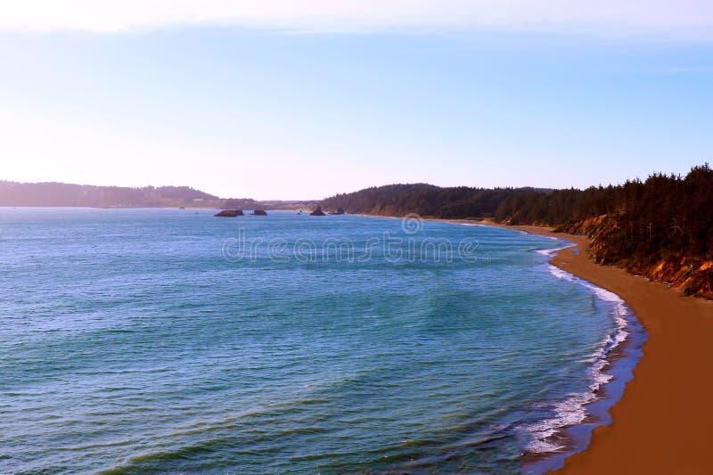 Красивый вид Тихоокеанского побережья в Калифорния, государствах Америки стоковые фото