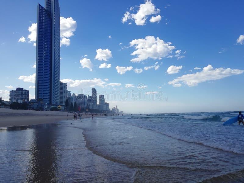 Красивый вид Gold Coast рая серферов стоковое фото