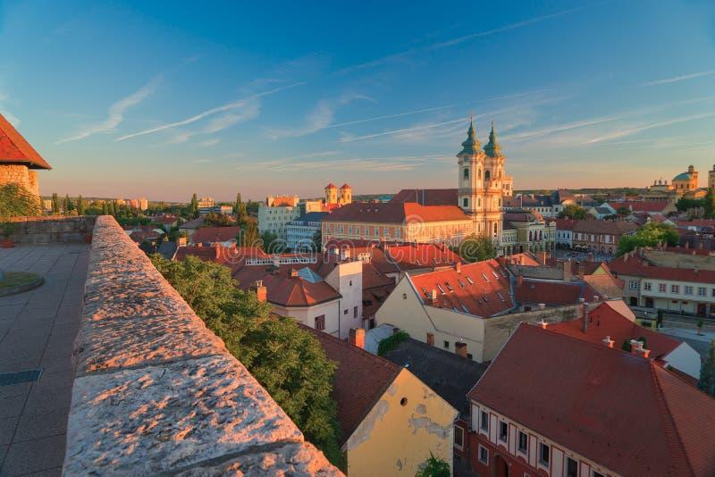 Красивый винодельческий регион Eger в Венгрии стоковая фотография rf
