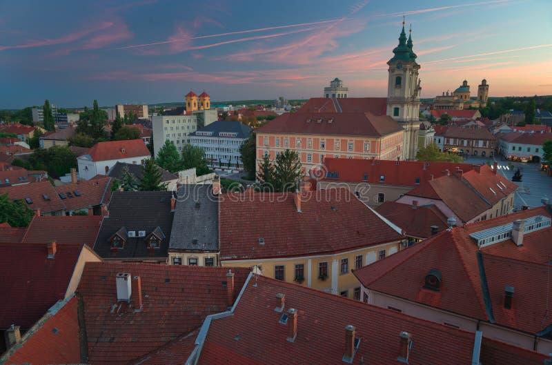 Красивый винодельческий регион Eger в Венгрии стоковая фотография