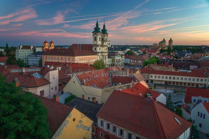 Красивый винодельческий регион Eger в Венгрии стоковые фотографии rf