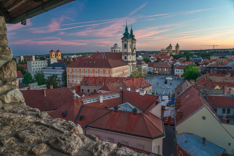Красивый винодельческий регион Eger в Венгрии стоковые изображения
