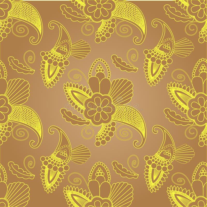 Красивый винтажный орнамент можно использовать как поздравительная открытка иллюстрация штока