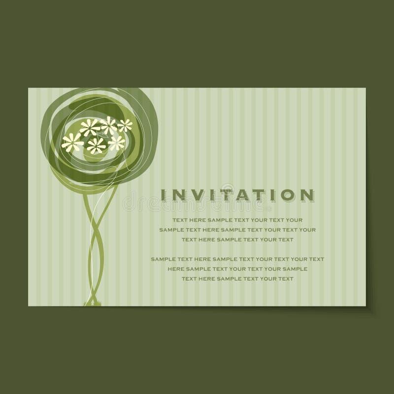 Красивый винтажный план карточек приглашения иллюстрация вектора