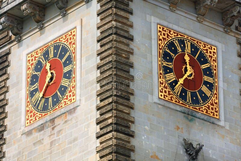 Красивый вид известной ратуши Гамбурга стоковые изображения rf