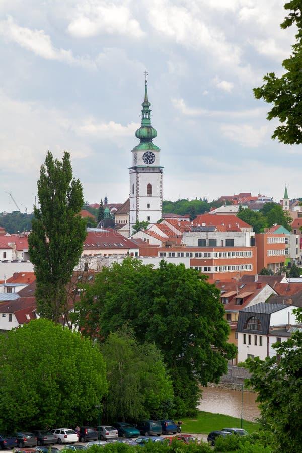 Красивый вид к городу, чехии стоковые изображения rf